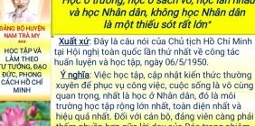 Học tập và làm theo tư tưởng, đạo đức, phong cách Hồ Chí Minh, tuần 1 tháng 5.2021